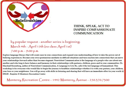 Relationships - Think Speak and Act - March 4th
