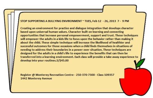 Stop Bullying - Feb 12 '13