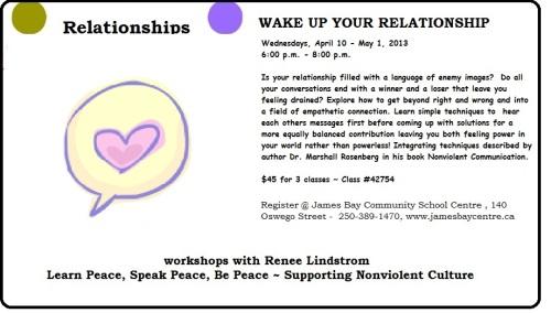 April '13 Relationships, James Bay