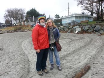 Jerry Etzkorn & Renee Lindstrom, December 21, 2013 - Willows Beach