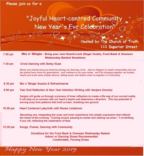 Church of Truth New Years Eve Invitation 1