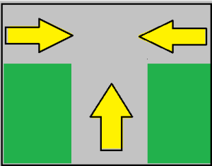 T - shaped Intersection