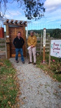 Richard LeBlanc, Director of Woodwynn Peace Garden & Dr. Saul Arbess, Founder of Canadian Peace Initiative