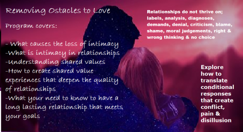 Removing Obstacles to Love Program