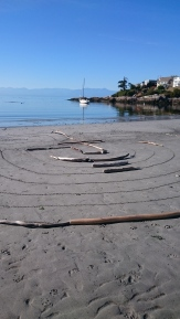 Gonzales Beach -Labyrinth in the Sand