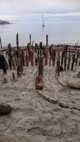 #yyj Gonzales Beach Labyrinth