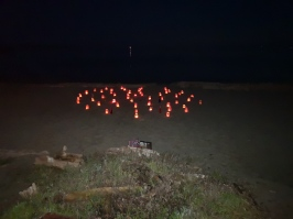 #yyj Willows Beach Nov '18 New Moon Labyrinth Walk