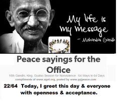 Peace sayings for the office 22 - 64