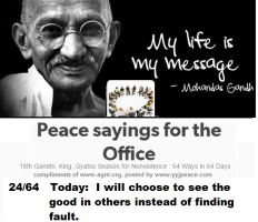 Peace sayings for the office 24 - 64