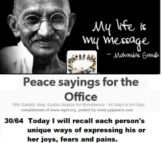 Peace sayings for the office 30- 64