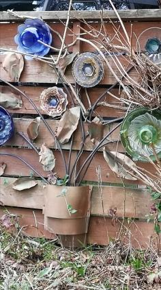 Recycled Glass Garden Art